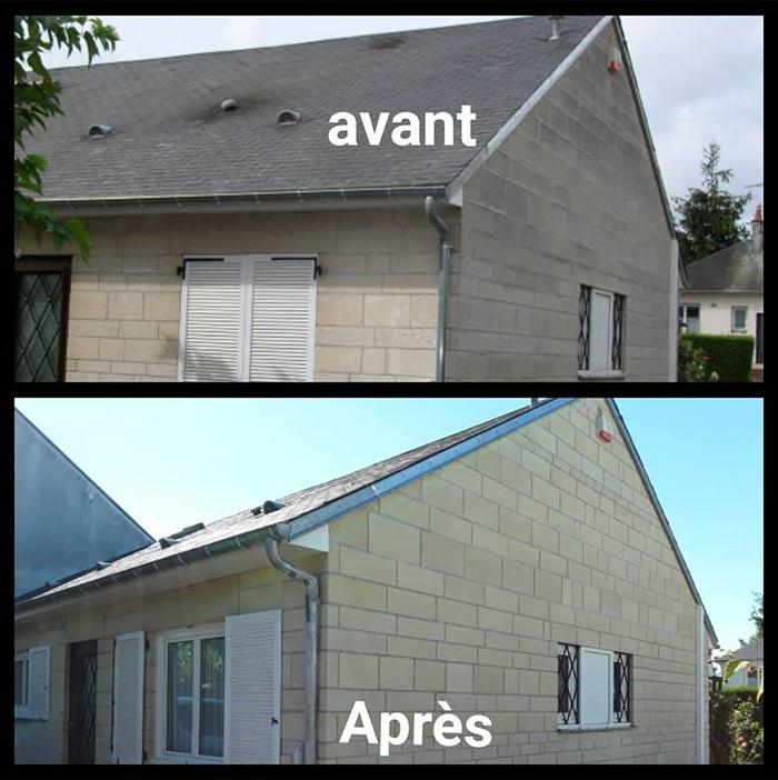 Nettoyage de toiture et de façade à Villorceau